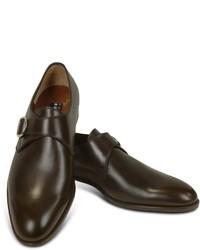 Zapatos con hebilla de cuero en marrón oscuro
