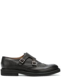 Zapatos con hebilla de cuero en marrón oscuro de Eleventy