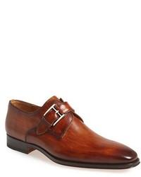 Zapatos con hebilla de cuero marrónes