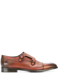 Zapatos con hebilla de cuero marrónes de Canali