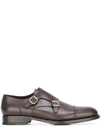 Zapatos con Hebilla de Cuero Marrónes de DSQUARED2