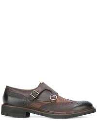 Zapatos con hebilla de cuero marrónes de Eleventy