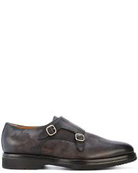 Zapatos con Hebilla de Cuero Marrónes de Santoni