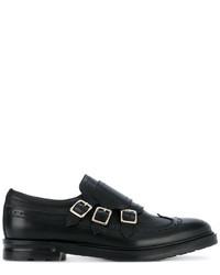 Zapatos con hebilla de cuero negros de Alexander McQueen