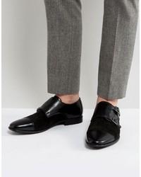 Zapatos con hebilla de cuero negros de Asos