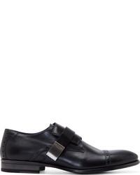 Zapatos con hebilla de cuero negros de Calvin Klein Collection