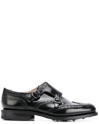 Zapatos con Hebilla de Cuero Negros de Church's
