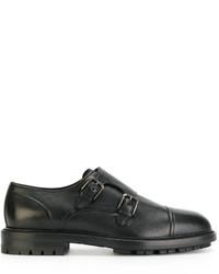 Zapatos con Hebilla de Cuero Negros de Dolce & Gabbana