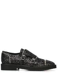 Zapatos con hebilla de cuero negros de Giuseppe Zanotti Design