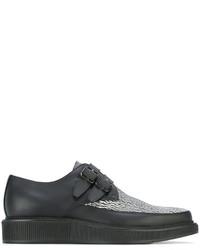 Zapatos con hebilla de cuero negros de Lanvin