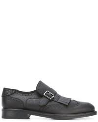 Zapatos con Hebilla de Cuero Negros de Salvatore Ferragamo