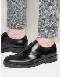 Zapatos con hebilla en marrón oscuro de Hugo Boss