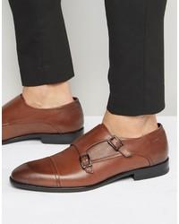 Zapatos con hebilla marrónes de Hugo Boss