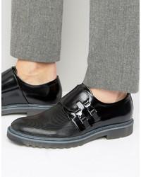 Zapatos con hebilla negros de Hugo Boss