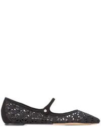 Zapatos de crochet negros de Tabitha Simmons