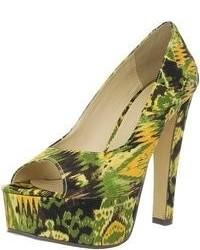 Zapatos de lona verdes