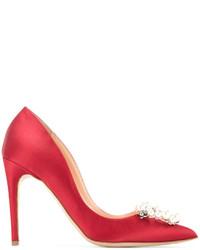 Zapatos de Seda Rojos de Rupert Sanderson