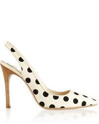 Zapatos de Tacón a Lunares Blancos de Hogan