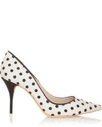 Zapatos de Tacón a Lunares Blancos de Webster