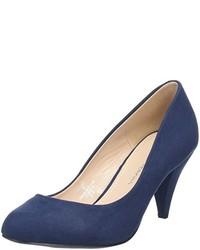 Zapatos de tacón azul marino de Dorothy Perkins