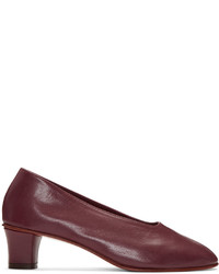 Zapatos de tacón burdeos de Martiniano