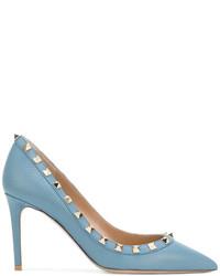 Zapatos de tacón celestes de Valentino