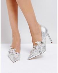 Zapatos de tacón con adornos plateados de Asos