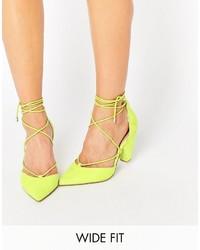 Zapatos de Tacón de Ante Amarillos de Asos
