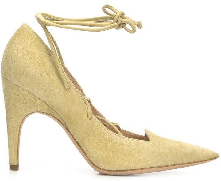 Zapatos de Tacón de Ante Amarillos de Derek Lam