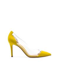 Zapatos de tacón de ante amarillos de Gianvito Rossi