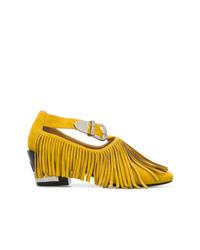 Zapatos de Tacón de Ante Amarillos de Toga