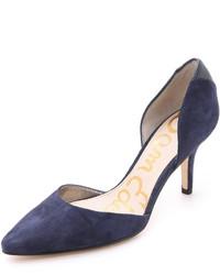 c711fd56 Comprar unos zapatos de tacón de ante azul marino Sam Edelman de ...