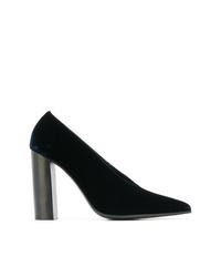 Zapatos de tacón de ante azul marino de Stella McCartney