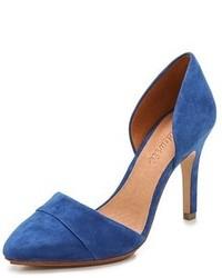 Zapatos de tacón de ante azules de Madewell