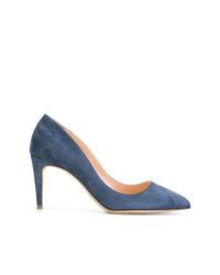 Zapatos de tacón de ante azules de Rupert Sanderson