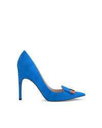 Zapatos de tacón de ante azules de Sergio Rossi
