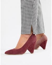 Zapatos de tacón de ante burdeos de ASOS DESIGN