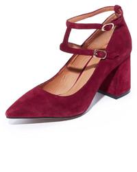 Zapatos de Tacón de Ante Burdeos de Matiko
