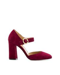 Zapatos de tacón de ante burdeos de MICHAEL Michael Kors