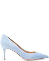 Zapatos de Tacón de Ante Celestes de Gianvito Rossi