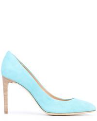 Zapatos de tacón de ante celestes de Giuseppe Zanotti Design