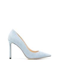 Zapatos de Tacón de Ante Celestes de Jimmy Choo