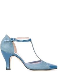 Zapatos de tacón de ante celestes de Repetto