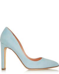 Zapatos de Tacón de Ante Celestes de Rupert Sanderson