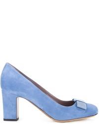 Zapatos de tacón de ante celestes de Tabitha Simmons