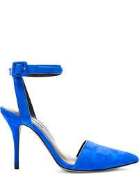 Zapatos de tacón de ante con recorte azules de Alexander Wang