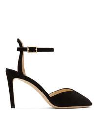 Zapatos de tacón de ante con recorte negros de Jimmy Choo
