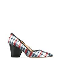 Zapatos de tacón de ante de tartán en multicolor de Paul Andrew