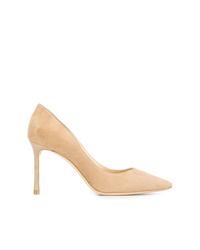 Zapatos de tacón de ante en beige de Jimmy Choo