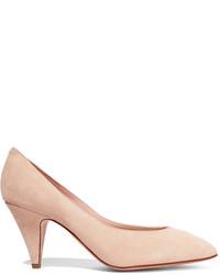 Zapatos de tacón de ante en beige de Mansur Gavriel